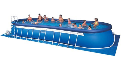 Intex pool oval