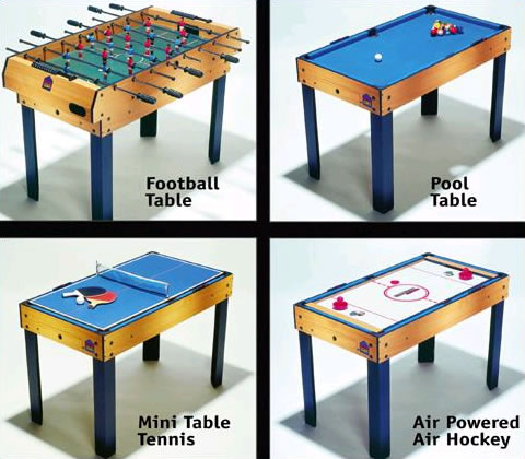 Merveilleux BCE Multi Games Table M4B 1 Tables UK