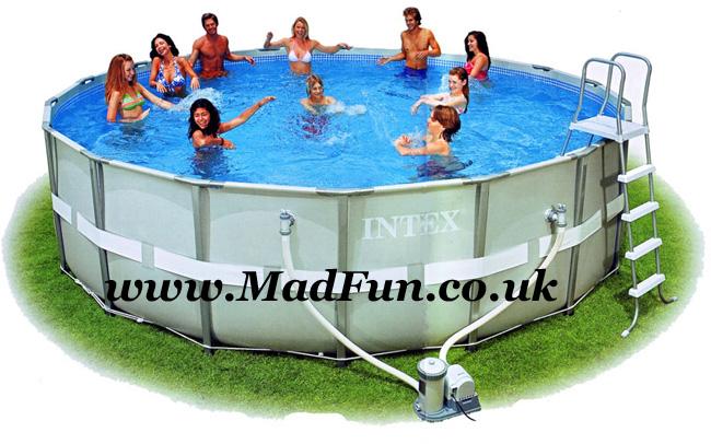Intex Swimming Pool UK Frame Pools Cover Above Ground AGP