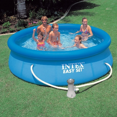 intex swimming pool easy set uk pools cover above ground. Black Bedroom Furniture Sets. Home Design Ideas