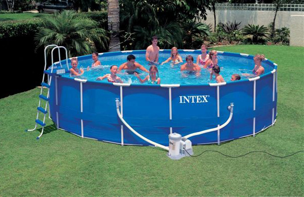Intex swimming pool uk frame pools cover above ground agp for Piscine portable prix