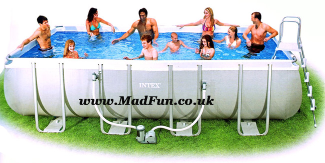 Intex Swimming Pool Rectangular UK Frame Pools Cover Above Ground AGP