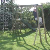 Action Tramps - Monkey Bars - Wooden Climbing Frame