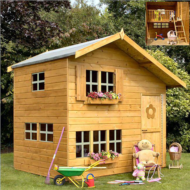 Playhouses playhouse play house children garden hallmark uk for Jardin 2 niveaux