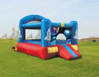 Bouncy castle duplay castles space slide and hoop bouncer for Duplay happy hop
